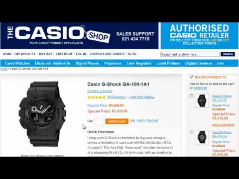 How To Use The Casio Shop Website | Buy Casio Online today