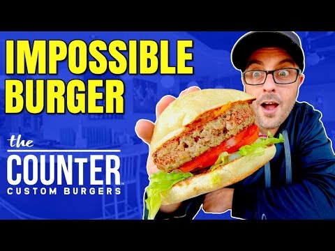 IMPOSSIBLE BURGER REVIEW AT THE COUNTER / VEGAN TASTE TEST