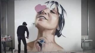 Sia painting made with spray by sprayguru