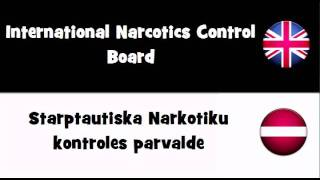 SAY IT IN 20 LANGUAGES = International Narcotics Control Board
