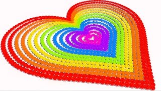 Learning Colors with A lot of 3D Heart Cookies