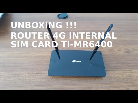 Unboxing Modem Router 4G Tp-Link TL-MR6400 Router Wireless 4g Lte 300mbps EX-DISPLAY