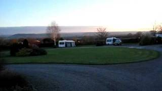 Sunrise on The Walnut Circle at The Old Oaks Touring Caravan Park & Campsite