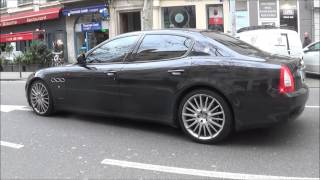 maserati quattroporte sport gts x2 loud start up, awesome sound and acceleration !!!