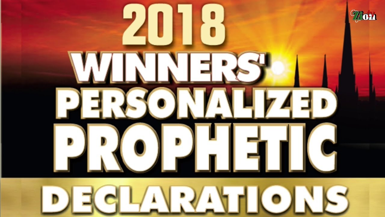 2018 WINNERS' PERSONALISED PROPHETIC DECLARATION