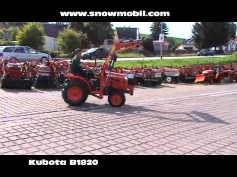 traktor kubota b1820 mit frontlader youtube. Black Bedroom Furniture Sets. Home Design Ideas