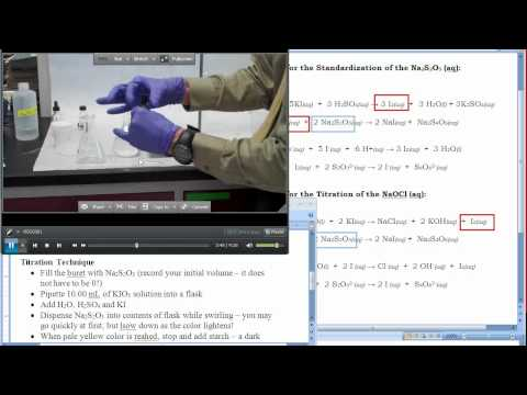 Redox Titration Of Bleach YouTube