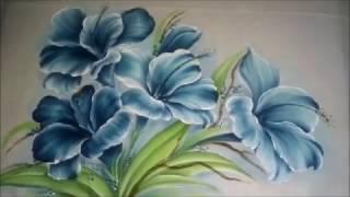 Como pintar hibisco – Pintura em tecido
