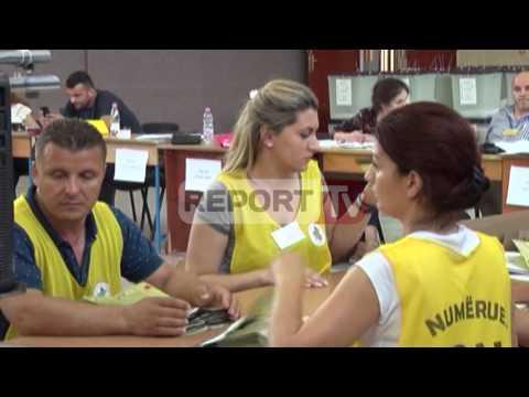 Report TV - Lezhë, numërimi i votave në KZAZ