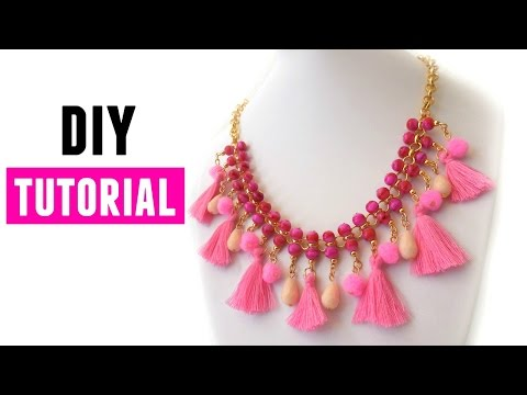 How To Make A Statement Necklace- DIY Jewelry making