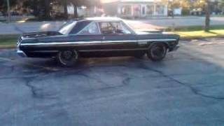 1965 Plymouth Fury burnout