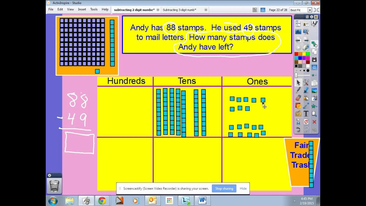 2nd Grade 2 Digit Subtraction With Regrouping