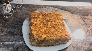 Торт Наполеон из готового слоеного теста | Быстрый и лёгкий рецепт