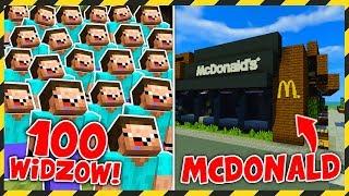 100 WIDZÓW buduje MCDONALD's! *wow*