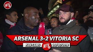Arsenal 3-2 Vitoria SC   Pepe's Freekicks Got Us Out Of Jail! (DT)