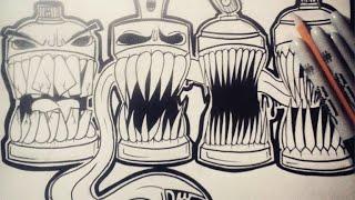 Cómo dibujar Latas de spray 2 | How to draw Spraycan