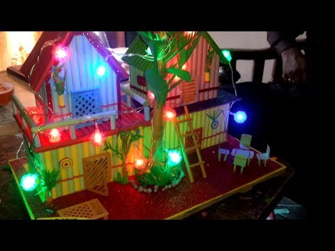 Wonderful paper house model | Best out of waste |DIY origami house