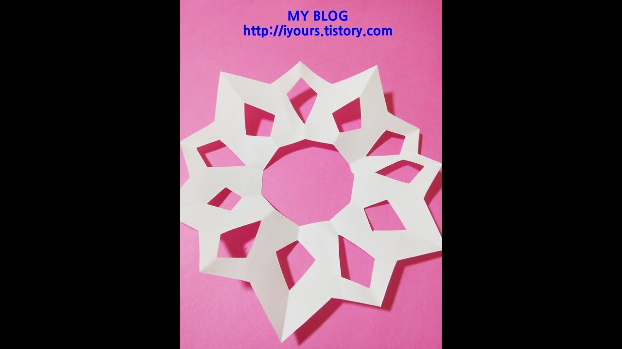 Papercraft EASY PAPER CUTTING FlOWER, 쉬운 꽃종이 오리기