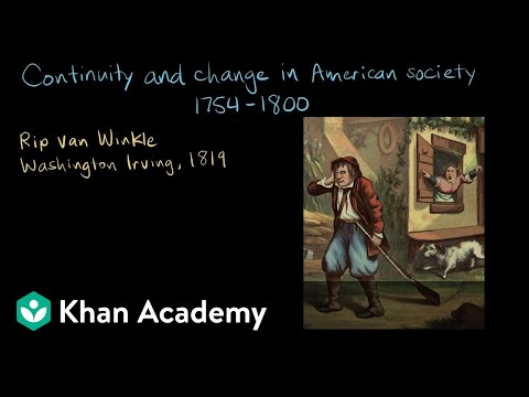 Continuity and change in American society, 1754-1800 | AP US