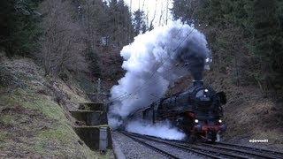 Dampf-Spektakel auf der Schwarzwaldbahn German steamtrain action.