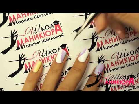 Дизайн для коротких ногтей Капля в капле