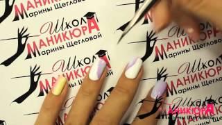 1 Урок. Как рисовать модный и легкий дизайн на коротких ногтях