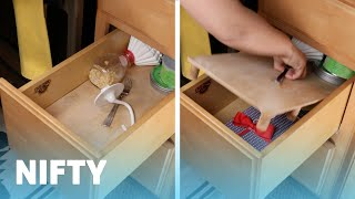 Easy False-Bottom Drawer