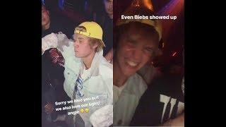 Justin Bieber dancing turning up celebrating Ben Baller birthday at nightclub Poppy January 25 2018