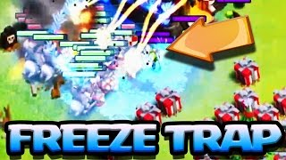 FREEZE TRAP ON 55 x LEVEL 7 HOG RIDERS !!! | New Defense | Clash of Clans