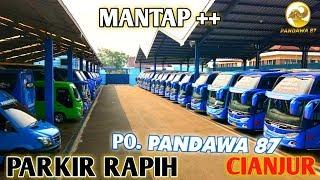 MOMEN KETIKA UNIT ARMADA PARIWISATA PO  PANDAWA 87 TERPARKIR RAPIH !!!