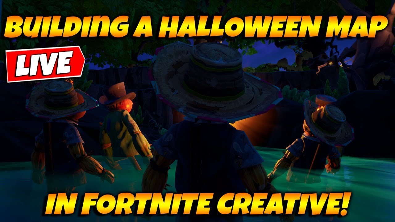 Building A Halloween Map In Fortnite Creative Live Youtube