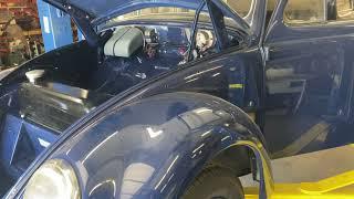 Omar's 56 oval window beetle hood prop.