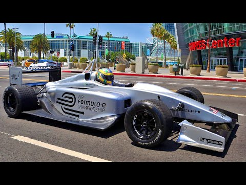 Formula E Driving The Streets Of LA (Onboard)