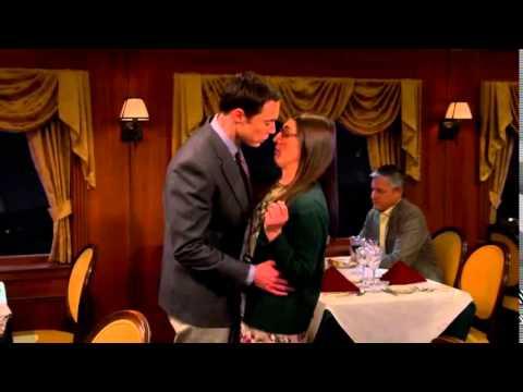 Sheldon kisses amy