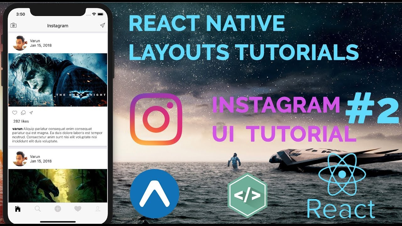 #2 Instagram UI Tutorial | React Native Layout(UI) Series