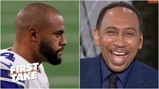 Stephen A. laughs at the Cowboys' Super Bowl chances despite Dak Prescott's new deal | First Take