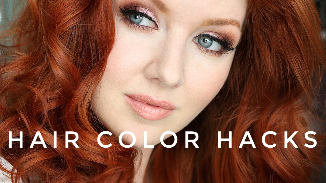 Hair Color Hacks | + My New RED Hair Color! - YouTube