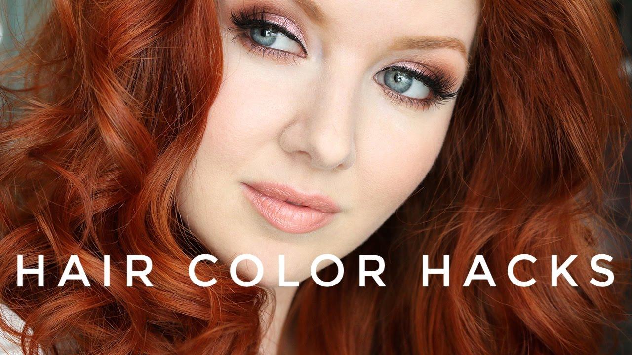hair color hacks red
