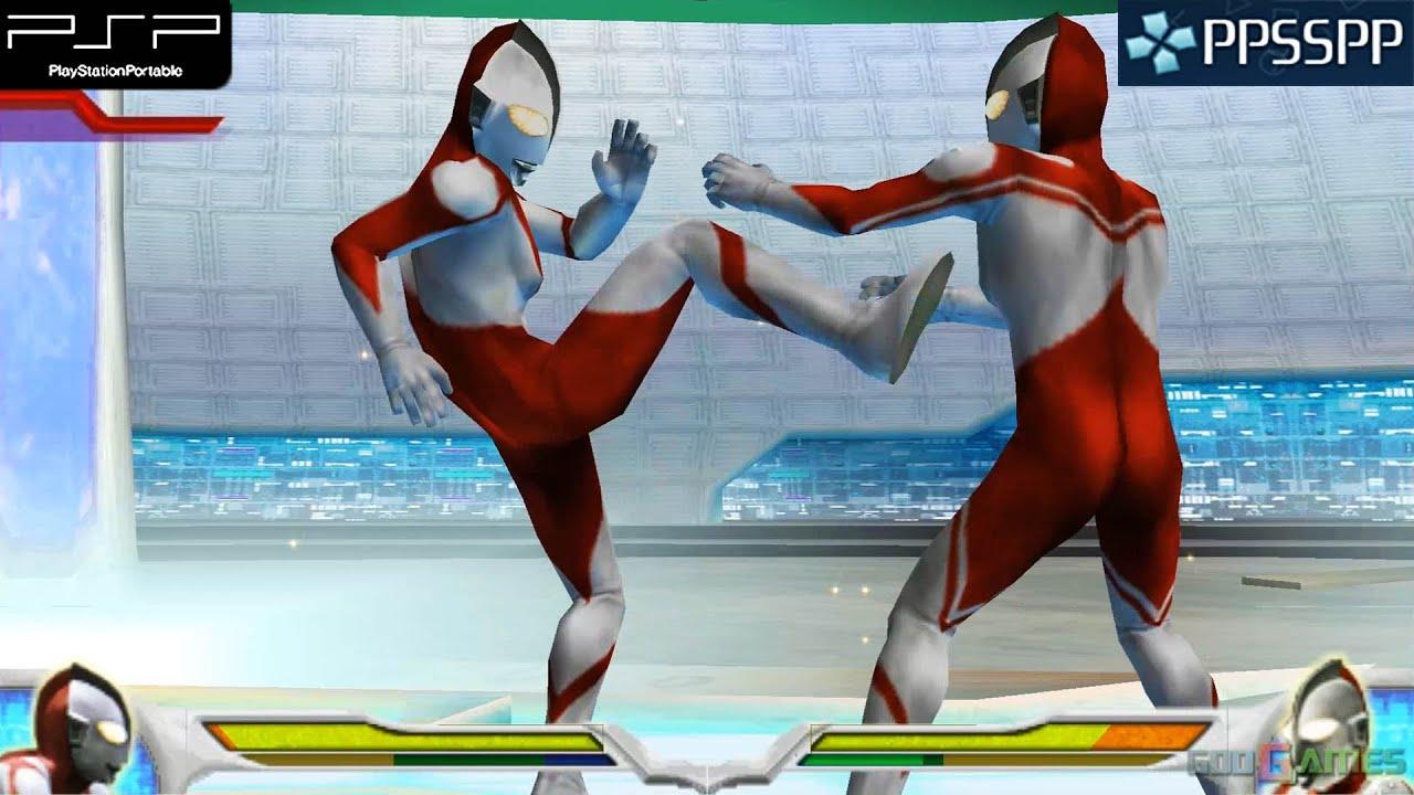 Ultraman Fighting Evolution 0 Psp Gameplay 1080p Ppsspp Youtube