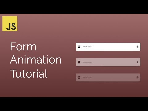 Simple Form Animation With Javascript Tutorial | HTML Forms | Learn Javascript