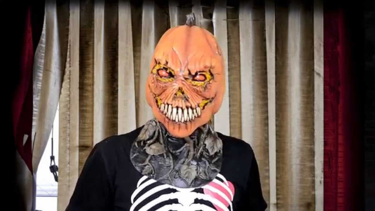 possessed pumpkin adult mask - halloween masks | trendyhalloween