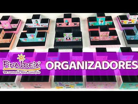 Organizadores De Mesa,  Porta-lápis, Porta-clips E Porta-trecos Fina Ideia