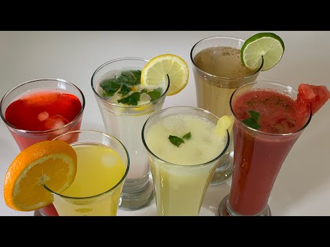6 Summer Refreshing Drinks | Summer Drinks Recipes Ramadan Drinks By (HUMA IN THE KITCHEN)