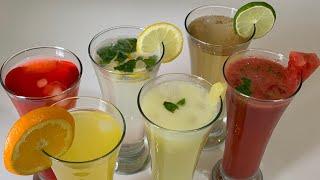 6 Summer Refreshing Drinks  Summer Drinks Recipes Ramadan Drinks by (HUMA IN THE KITCHEN)