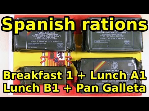 Spanish rations Breakfast 1 + Lunch A1 + Lunch B1 + Pan Galleta