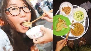 Vietnamese Street Food in Hanoi ► Vegan Donuts & Dessert Soup