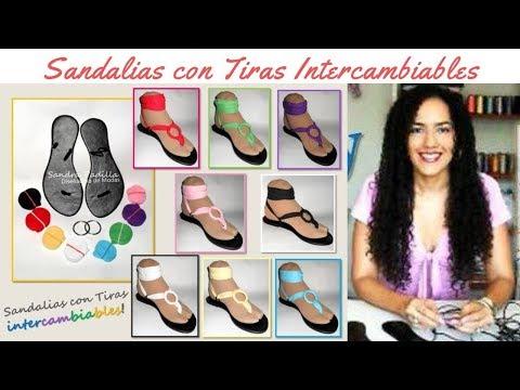 Como hacer unas Sandalias con Tiras Intercambiables - Tutorial de SANDRA PADILLA