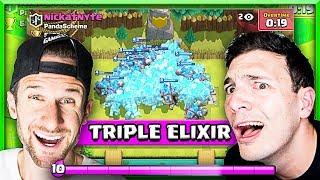 TRIPLE ELIXIR MADNESS • Clash Royale Challenge