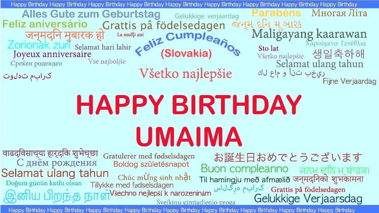 grattis på födelsedagen meaning Umaima Languages Idiomas   Happy Birthday   YouTube grattis på födelsedagen meaning