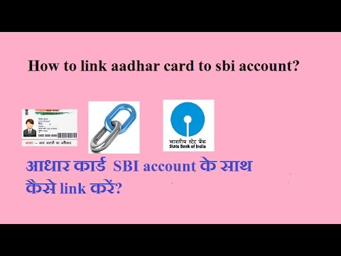 aadhar card link to bank account through online sbi